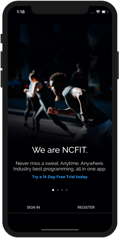 NCFIT App Home Screen