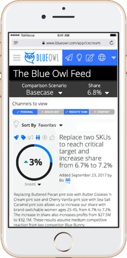 Blue Owl Home Screen